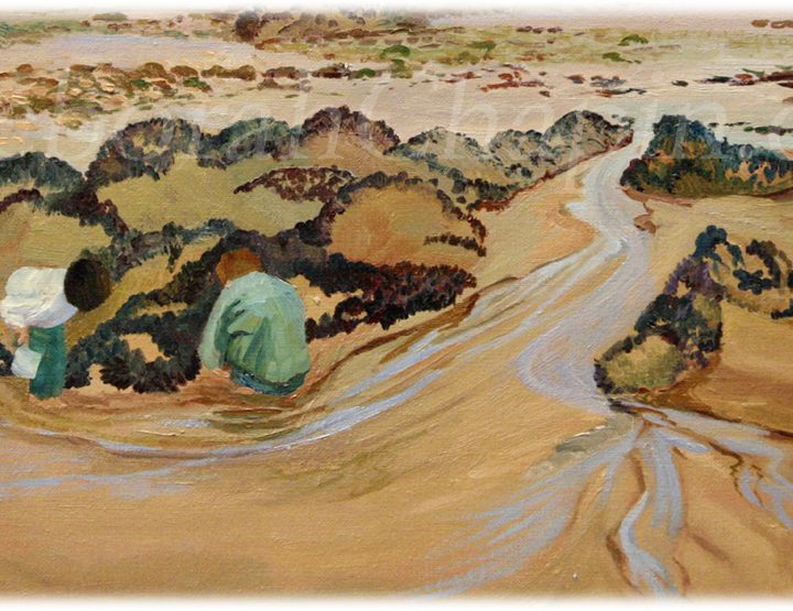 Original Oil Paintings on Canvas, close up of Disoveries on the Beach, original 21x34 , Deborah Chapin