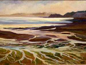 Meanders of the Sea, painted on location, Brittany France, Deborah Chapin