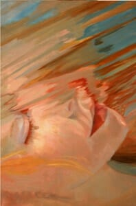 Art Gallery Portfolio, verticle Underwater Portraits: Finished Portrait ~ Cameron Break Through by Deborah Chapin