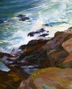 Private Collection, Sold Original Oil Paintings Archives. No Contest, 22x30 plein air oil, Brittany series, Deborah Chapin. Exhibited at National Arts Club