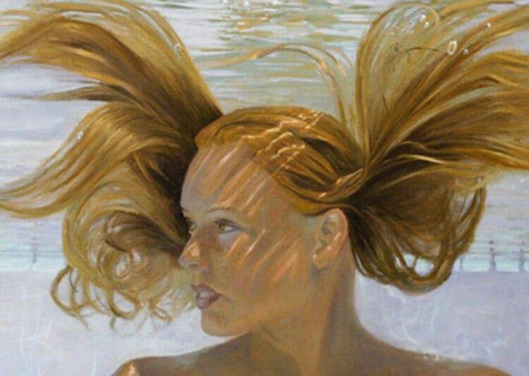 closeup Continued refinement - water portrait artist Deborah Chapin