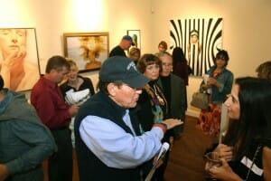 RJD Gallery Opening, Women Painting Women 2015 - Painting by Deborah Chapin