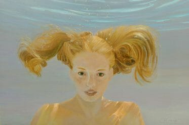 Penny for Your Thoughts 20x30 oil on linen canvas by Deborah Chapin