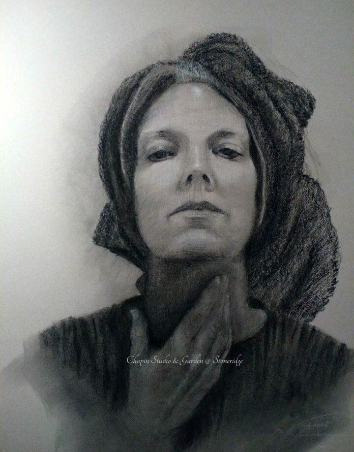 Self Portrait , Portrait Art, Charcoal Drawing, Original,