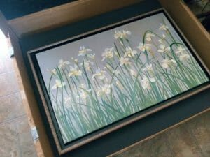 floral art, flower paintings for sale, white flower paintings, floral artwork