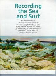 Sea and Surf en Plein Air by Deborah Chapin