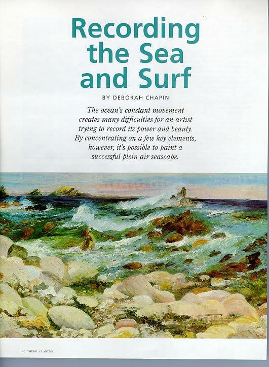 Online Painting Gallery Sea and Surf en Plein Air by Deborah Chapin