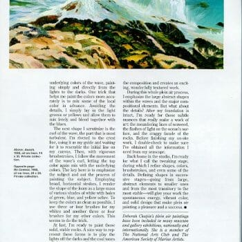 page 6 Sea and Surf en Plein Air by Deborah Chapin