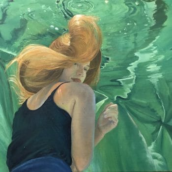 """Contemporary Painting Gallery, collector's painting, """"Crossfire Hurricane"""", 24x36 oil on linen canvas by Deborah Chapin."""