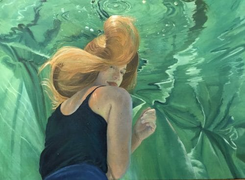 "Contemporary Painting Gallery, collector's painting, ""Crossfire Hurricane"", 24x36 oil on linen canvas by Deborah Chapin."