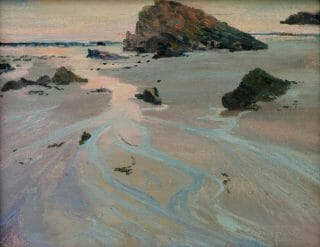 Chapin - Back to the Sea IIoriginal oil painting for sale, beach scenese on canvas, Back to the Sea II is an original oil paintin by artist Deborah Chapin painting of...