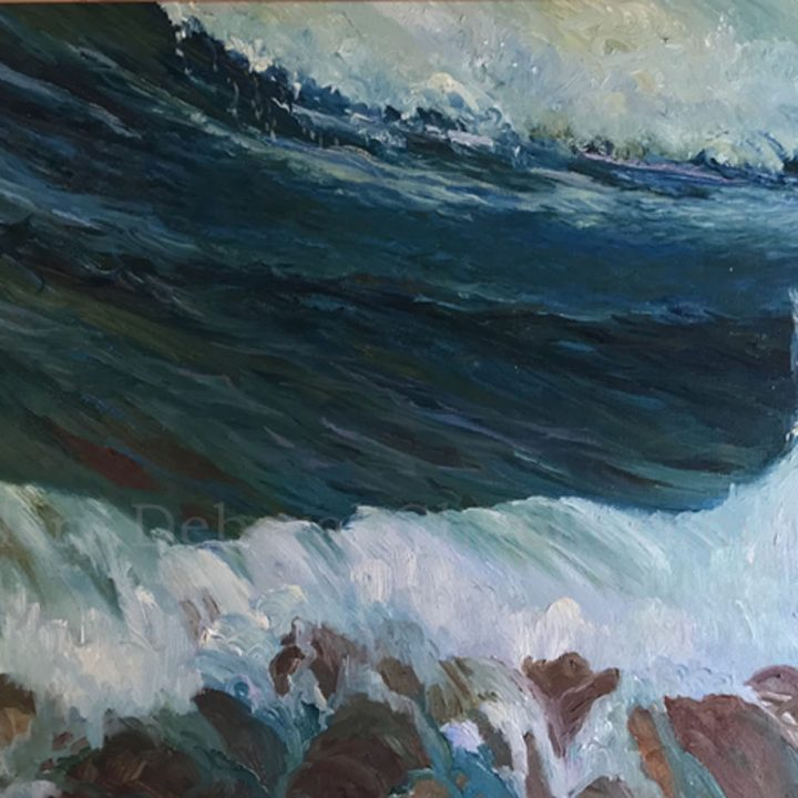 Original Paintings: Les Vagues, 21x34, plein air oil by Deborah Chapin