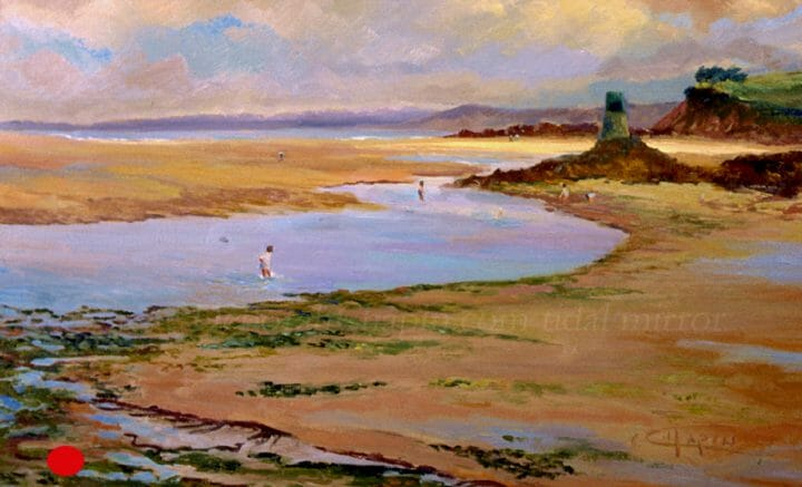Plein air oil painting, Deborah Chapin, After the Storm 21x34 oil