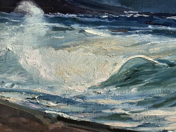 Blue Indigo, Master Marine Painting, Exhibited Ketterer Kunst Hamburg Germany, Deborah Chapin.