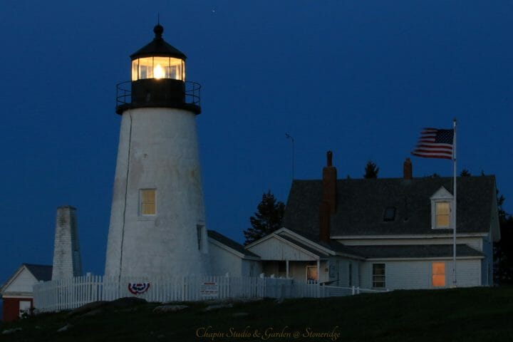 Pemaquid Pont Lighthouse at Dawn by Deborah Chapin