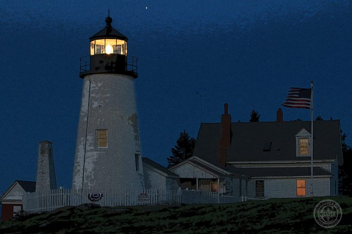 Pemaquid Point Lighthouse at Dawn, Metal print by Deborah Chapin