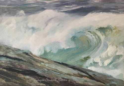 White Horses of the Sea I, oil on linen canvas is part of the #chapinstormpaintings depicting the white horses written about by Byron and other poets. An English lore