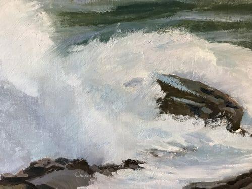 White Horses of the Sea 3 closeup 1 series by Deborah Chapin