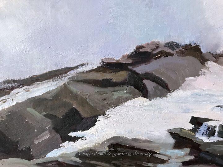 White Horses of the Sea 3 closeup 2 series by Deborah Chapin