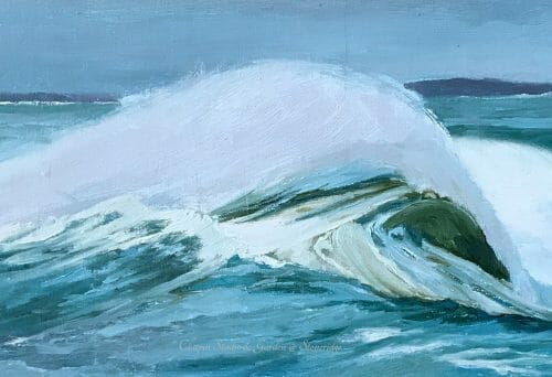 White Horses of the Sea 4 by Deborah Chapin