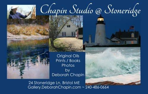Chapin Studio @ Stoneridge in Bristol ME opening May 15th