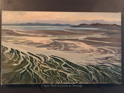 Meander of the Sea Wall Display, 24x40 newly hung at Chapin Studio @ Stoneridge in Bristol ME opening May 15th