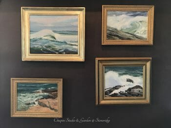 White Horses of Sea, newly hung on the studio wall for May 15th opening of Chapin Studio @ Stoneridge in Bristol ME