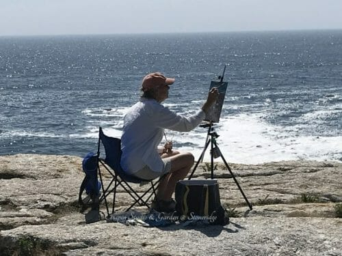 Plein Air Painters of Maine Pemaquid Point Paintout August 2020