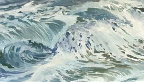 WIP - White Horses of the Sea 5 by Deborah Chapin