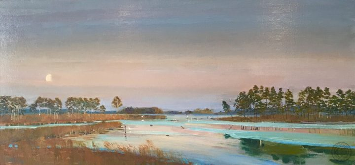 Painted on location at Black Water Wildlife Preserve Chesapeake Nation Park, Exhibited in the top 100 of the 2007 Art for the Parks .