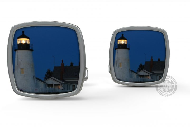 Custom Pemaquid Point Lighthouse Cufflink