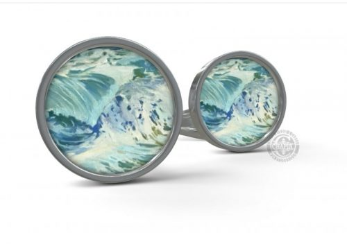 Custom Cufflinks, White Horses of the Sea, Gifts from Maine, Deborah Chapin
