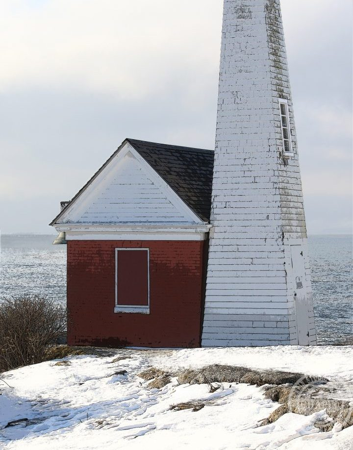Pemaquid Bell House Winter by Deborah Chapin Chapin Studio @ Stoneridge