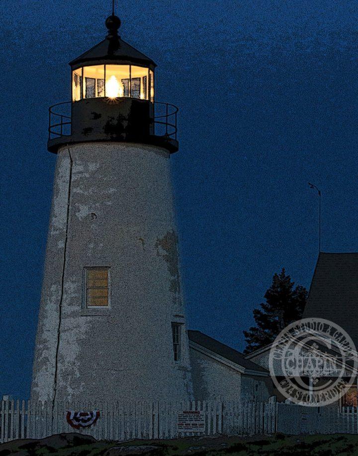 Pemaquid Point Lighthouse at Dawn, Metal print by Deborah Chapin