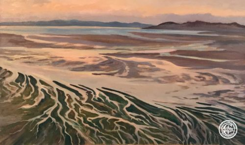 Abstract Marine, Meanders of the Sea I by Deborah Chapin