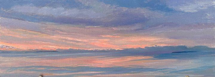 Original Art, Muscongus Bay at Dawn 1, by Deborah Chapin