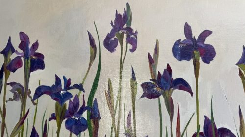 Siberian Irises by Deborah Chapin