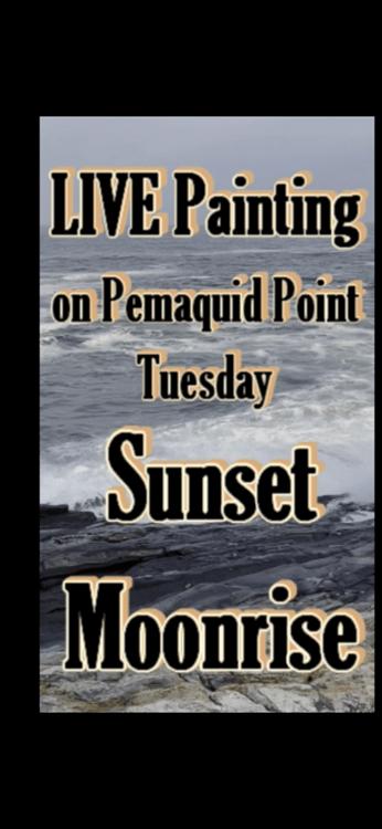 Pemaquid Point LIVE plein air painting Deborah Chapin
