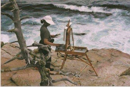 Painting in Maine in Acadia