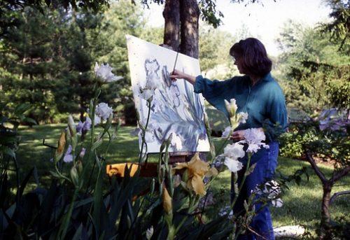 Painting Irises in the Neighborhood