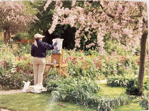 Painting In Monet's Garden, Giverny