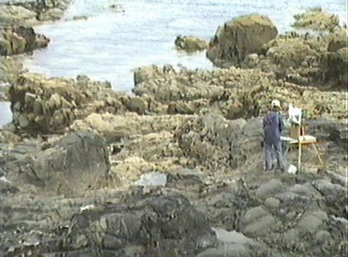 On The rocks at Low Tide in Brittany