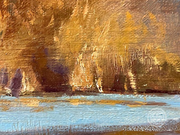 Wetland Painting Icing Up by Deborah Chapin