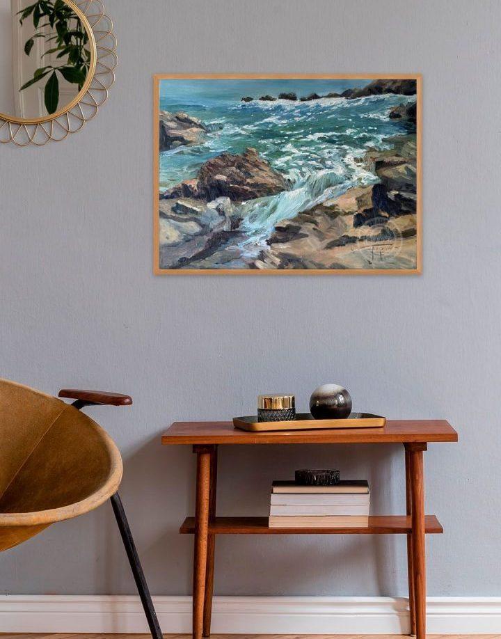 Marine Artist - Coastal Au Soleil by Deborah Chapin