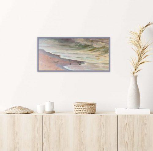 Wave painting Breakfast on the Beach by Deborah Chapin