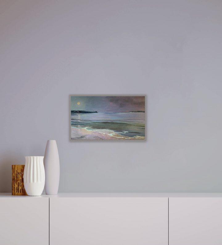 Paintings, Buy Art Online, Moonset at Pemaquid by Deborah Chapin