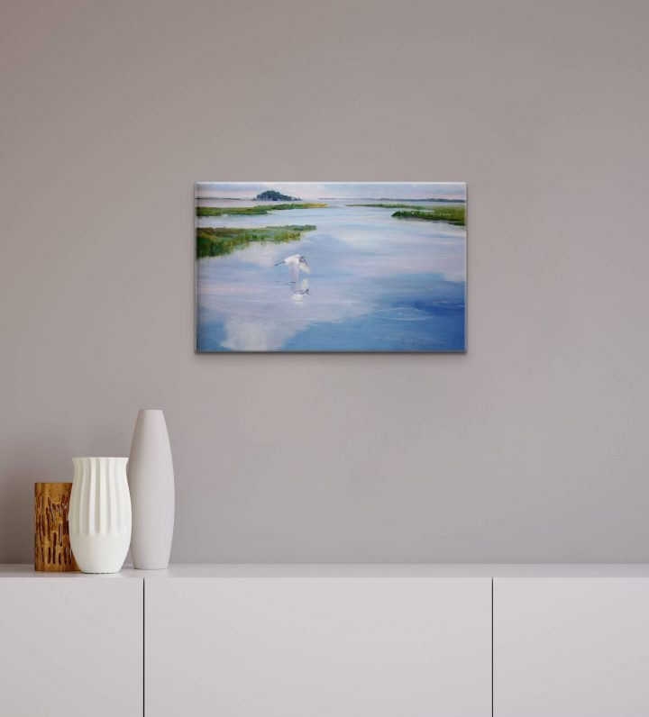 Landscape Painting for Sale,  Plein Air Series, Touching the Clouds by Deborah Chapin