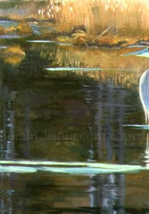landscape painting, Tranquility, canvas print by Deborah Chapin