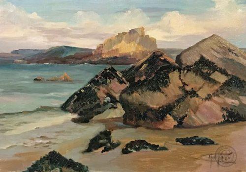 Coastal Art - Mussel Rock by Deborah Chapin.