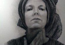 "#charcoaldrawing, self portait , ""In Search of Self"" 19.5x25 charcoal on Canson, Self Portrait Deborah Chapin"